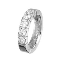 Alliancesring i hvidguld 1.25 ct