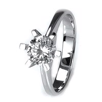 Solitaire-ring i hvidguld 1.00 ct