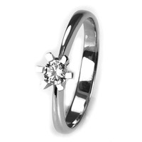 Solitaire-ring i hvidguld 0.20 ct
