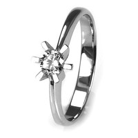 Solitaire-ring i hvidguld 0.25 ct