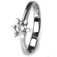 Solitaire-ring i hvidguld 0.30 ct