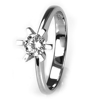 Solitaire-ring i hvidguld 0.40 ct