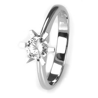 Solitaire-ring i hvidguld 0.50 ct